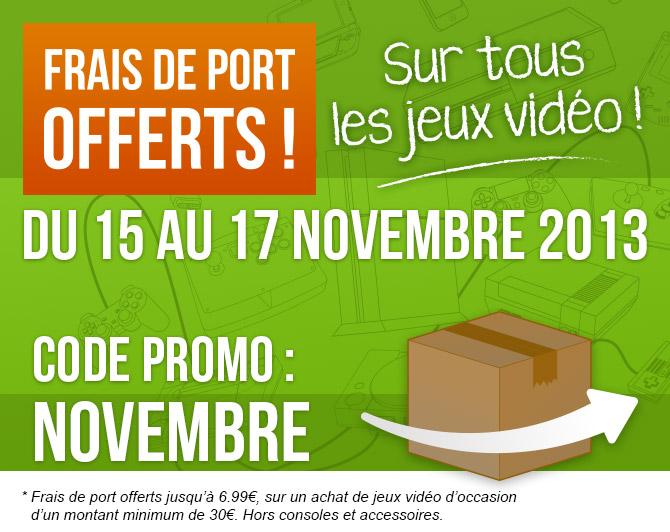 Actualit frais de port offerts sur gamecash fr gamecash - Code promo brandalley frais de port offert ...
