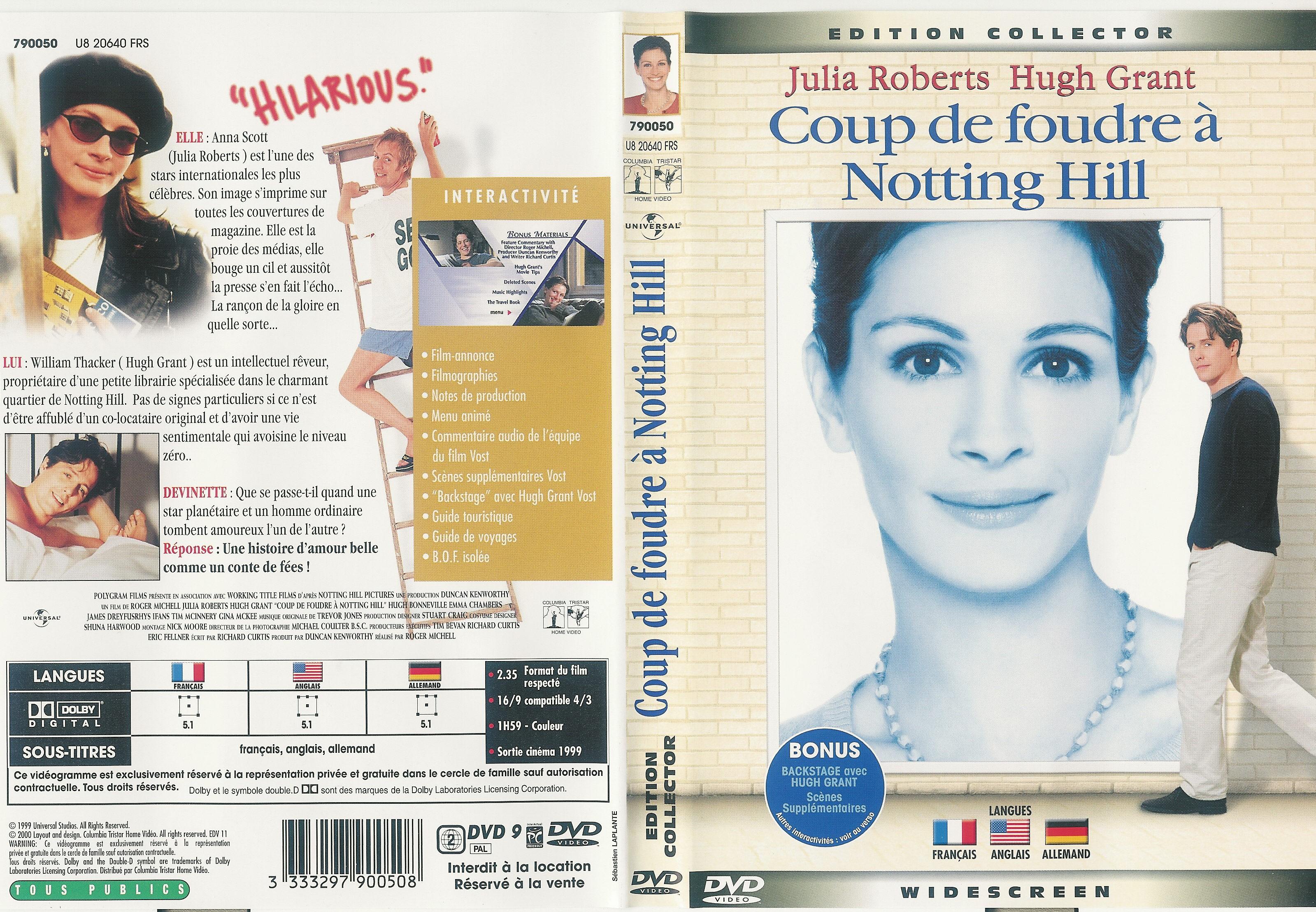 Coup de foudre notting hill dvd jeux occasion - Musique du film coup de foudre a notting hill ...