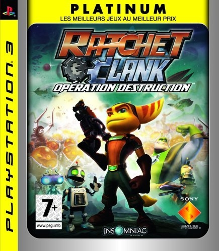 ratchet et clank operation destruction platinum ps3 argus jeux vid o d. Black Bedroom Furniture Sets. Home Design Ideas