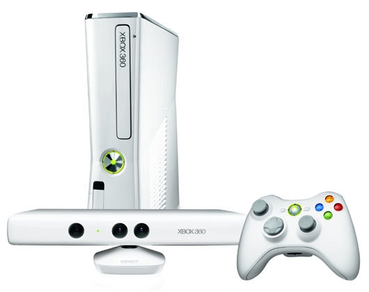 console xbox 360 slim 4 go blanche kinect x360 argus jeux vid o d. Black Bedroom Furniture Sets. Home Design Ideas
