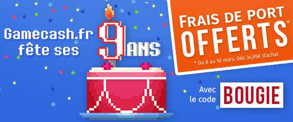 9 ans du site Gamecash.fr
