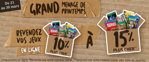 Bonus sur vos ventes de jeux sur Gamecash.fr