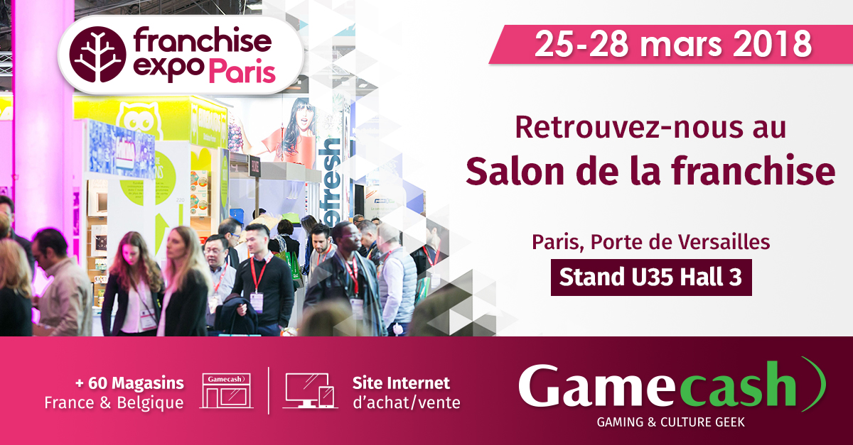 Gamecash sera pr sent franchise expo paris 2018 la for Le salon de la franchise