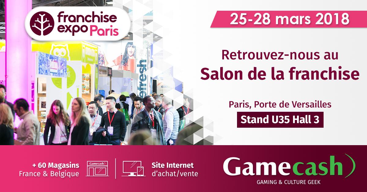 Gamecash sera pr sent franchise expo paris 2018 la for Salon des franchises lyon